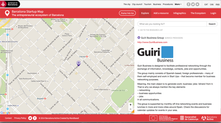 Barcelona StartUp Map